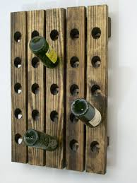 wooden wall hanging riddling wine rack handcrafted wood wall hanging