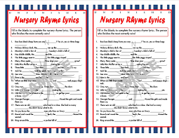 Nautical Baby Nursery Unfinished Nursery Rhyme Lyrics Nautical Printable Game