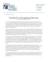 introduction to unemployment insurance center on budget and