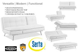 white leather futon sofa white leather futon sofa bed palermo serta euro lounger the