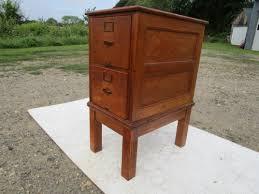 sold antique c 1910 library makers 2 drawer tiger oak filing