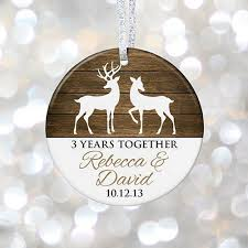 anniversary christmas ornament personalized anniversary gift 1st 5th 10th 20th