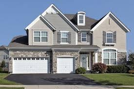 gray brick house color schemes exterior painting ideas