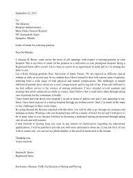 Resume For Nursing Position Letter Of Intent