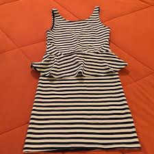 12 off h u0026m dresses u0026 skirts h u0026m navy u0026 white stripe peplum