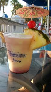 an island escape umbrella drink at the flying bridge on st pete