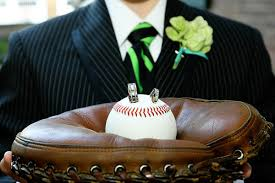 baseball themed wedding 100 ideas for summer weddings baseball ring ring bearer pillows