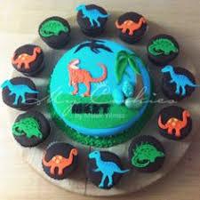 dinosaur flat cupcake display birthday party ideas pinterest