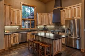 hickory cabinets with granite countertops efficient mountain contemporary contemporary kitchen