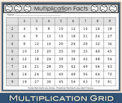 teaching multiplication facts with math facts baseball enjoy