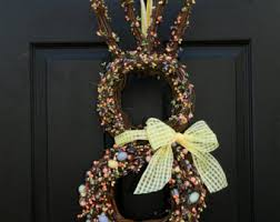 Easter Decorations At Von Maur by View Bunny Wreaths Easter By Everbloomingoriginal On Etsy