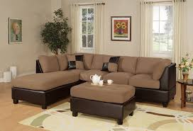 Sectional Sofa Set Bobkona Hungtinton Microfiber Faux Leather 3