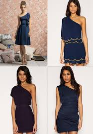 navy blue and electric blue bridesmaid dresses onefabday com
