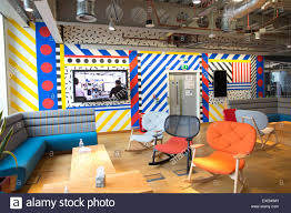 facebook office interior facebook uk headquarters brock street london uk stock photo