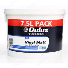 dulux trade vinyl matt emulsion interior paint 7 5l brilliant white