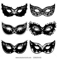 black and white mardi gras masks mask clipart silhouette pencil and in color mask clipart silhouette