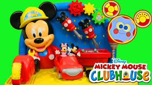 mickey mouse clubhouse workbench toodles toolbox minnie mouse car
