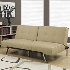 alfie click clack sofa bed in taupe shop condo sized furniture