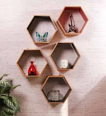 wall shelves pepperfry savemoneyindia etailer dream arts hexagonal wall shelf pepperfry