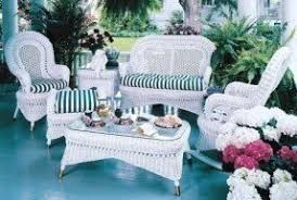 Wicker Patio Furniture Sets Foter - White wicker outdoor furniture