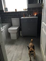 grey metro tiles give a contemporary look to our classic camberley