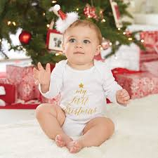 my christmas baby girl baby girl boy clothes jumpsuit tiny cottons autumn 2017 white