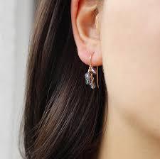 purple earrings lucky in blue and purple earrings mignon