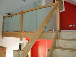 Glass Handrails For Stairs Glass Balustrading Oak Handrail With Glass Toughened Glass