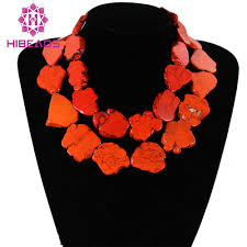 orange stone necklace images Fabulous stone jewelry chunky orange stone necklace baroque style jpg