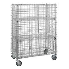 Security Cabinet Stainless Steel Mobile Security Cage With 2 Lockers Buy Security