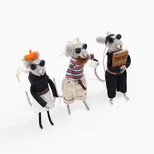 beatnik poet mice ornament set poketo