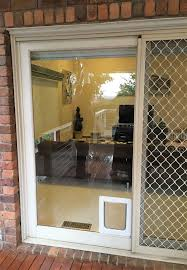 Sliding Door Exterior Sliding Door Insert Glass With Doggie Built In Exterior Pet