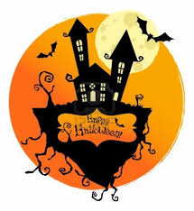 happy halloween clipart halloween fear horror party background for flyers or posters