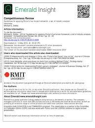 guidelines for applying porter s five forces framework a set of