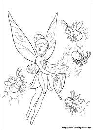 coloring pretty tinkerbell color coloring