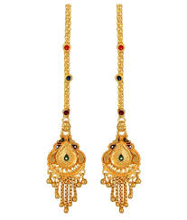 gold kaan earrings goldnera traditional gold plated designer kaan chain earrings for