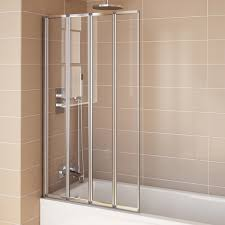 800mm modern pivot folding bath shower glass screen reversible