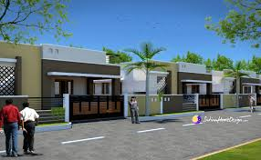 Row Houses Elevation - attractive house elevation photos in india 3