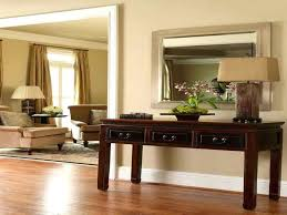 Narrow Hallway Furniture by Small Modern Wood Console Table With Glass Top And Shelf Painted