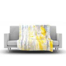 Yellow Throws For Sofas by Carollynn Tice