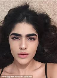 Bushy Eyebrows Meme - natalia castellar who was bullied for her eyebrows is snapped up for