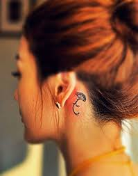 meaningful little tattoos on the nooks of people u0027s necks tattoodo
