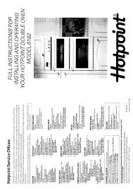 hotpoint double oven 6182 user guide manualsonline com