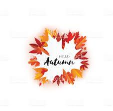 beautiful autumn paper cut leaves hello autumn september flyer