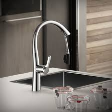 Buy Kitchen Faucet by Fapully Chrome Kitchen Faucet Mixer Pull Out Spray Kitchen Mixer