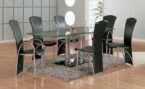 4 Seater Round Glass Dining Table Chair Dining Small Clear Glass Table And 2 Faux Chairs In Cream