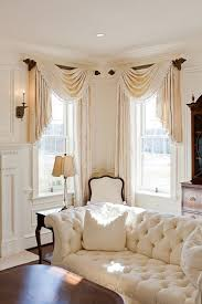 Swag Curtains For Dining Room Best 25 Corner Window Treatments Ideas On Pinterest Corner