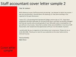 Staff Accountant Sample Resume by Accountant Cover Letter Sample Resume Cover Letter With Cover