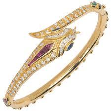 emerald diamond gold bracelet images 14k snake bracelet with diamonds emeralds rubies and sapphires jpg
