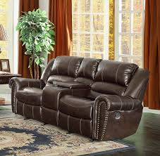 Power Recliner Loveseat With Console Amazon Com Homelegance 9668brw 2 Double Glider Reclining Loveseat